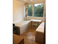 Brand new Twin room, Smart Tv and Cleaner, by GYM+Free Park by Fulham, Richmond, Hammersmith