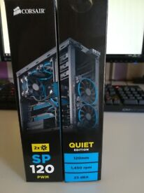 Twin pack of Corsair SP120 Quiet Edition