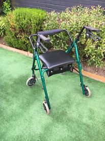 4 Wheel Rollator with seat and storage
