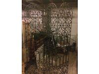 Antique Cast Iron Ornate room divider