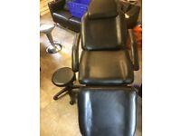 Black tattoo chair