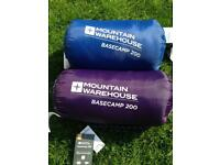 2 x Mountain Warehouse Sleeping Bags for camping ⛺️
