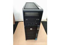 Used, HP Z620 Workstation 20Cores/40T, 2x Xeon E5-2658v2, 64GB RAM, Quadro 5000, SSD for sale  Walthamstow, London