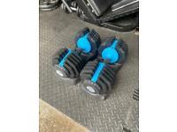 2x 25kg men's health adjustable dumbbells