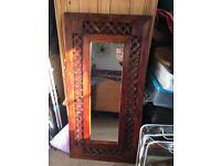 Sheesham wood mirror