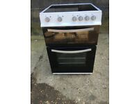 Montpellier MTC60FW 60cm Double Electric Cooker in Black & White #4728