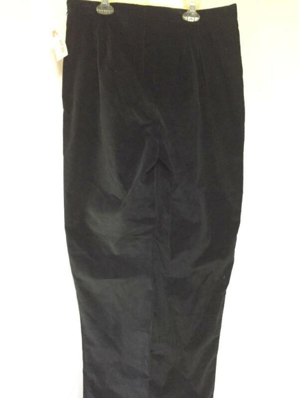 Tsunami Ladies Corduroy Fashion Pants Size 12 Color Black NEW