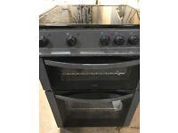 LOGIK Matt black 60cm wide new model electric ceramic cooker
