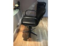 Two hydraulic styling chairs £80