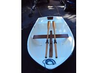 Lovely dinghy, tender, lake fishing boat, original gel coat inc oars, great condition