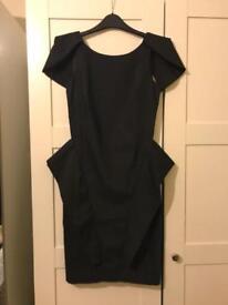 Mylene Klass Little Black Backless Dress