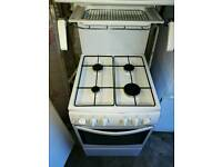 Gas cooker with top grill