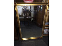 Striking Large Antique Style Decorative Carved Gilt Glass Mirror