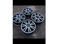 "BSA 18"" alloy wheels 4x100 pcd for corsa golf polo mx5 Lupo BMW"