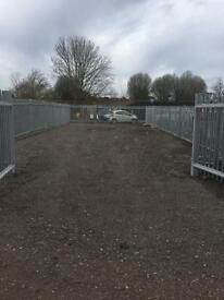 Storage yard for rent or let builders car van caravan storage repairs truck trailer parking unit