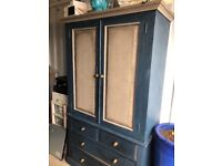 Solid pine chalk painted wardrobe