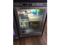 2 x Undercounter Glass Door Fridges