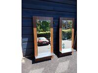 Salon Mirrors (Set of 4) Custom made.