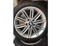 "BMW 17"" m sport 1 series alloys tyres genuine"