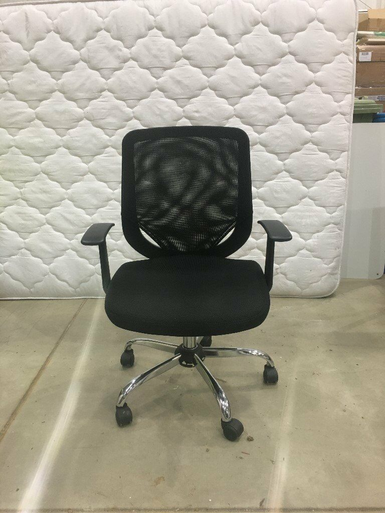 8 Black Office Chairs