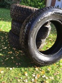 Rovelo Winter Tyres used on Nissan Quashqai. Good condition only used for couple of months
