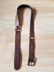 Women's genuine leather belt brown