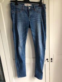 Blue low rise hollister jeans W29 L29