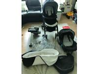 Silvercross 3D travel system monochrome with ISOFIX