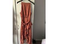 Boohoo polka dot dress size 18