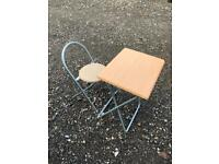 Small collapsable table and chair
