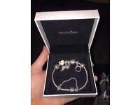 FOR SALE.. Genuine Pandora bracelet.. Pandora ring and Thomas Sabo Necklace