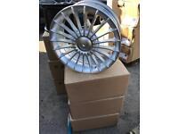 "4 17"" alloy wheels alloys rims tyre tyres bmw e30 vauxhall ford 4x100 100 pcd"