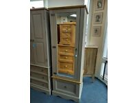 NEW 1 Door, 1 Drawer Grey/Pine Wardrobe only WAS £279 NOW £223