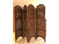 Stunning Hand Carved Wooden Screen / Room Divider