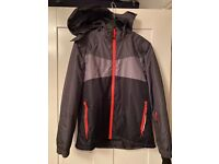 Boys waterproof jacket with removable hood