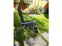 Sun lounger and garden chair in 1
