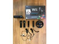 Nintendo Wii Mario Kart Pack (boxed) with games and accessories