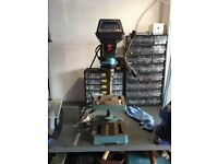 Pillar Drill made by Draper 23 inches high half inch Jacobs chuck