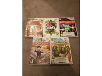 Pre-owned Wii 5 game bundle joblot