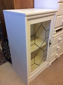 Display cabinet cream painted