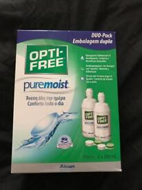 Opti-free contact lenses cleaner