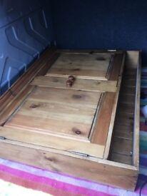 Vintage Pine Dresser / wall shelves