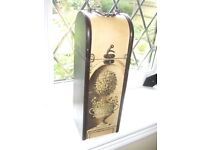 ORNATE FRENCH WOODEN WINE BOX / CARRIER / STORAGE