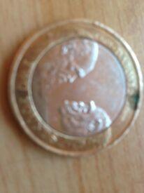 Rare 2£ Darwin coin