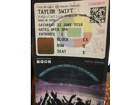 4x taylor swift wembley 23/06/18 block c5