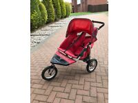 Out n about nipper 360 double buggy red