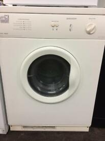 (2) white knight 6kg vented tumble dryer