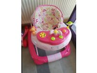 GIRLS PINK BABY WALKER GOOD CONDITION
