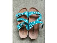 Size 5, Ditsy Daisy sandal by Brakeburn, new without box.