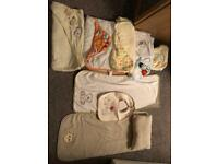 Hooded Baby towels, bib and changing mat towels